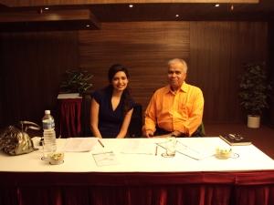 With Karishma Tanna