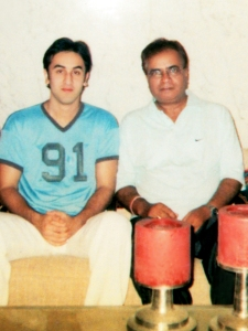 "With Ranbir Kapoor before "" Saawariya """