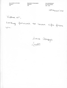 Ranbir Kapoor's Hand - Written Note to Me