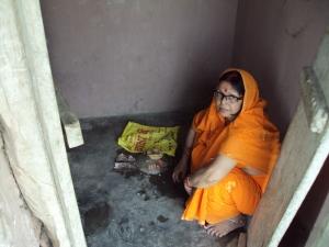 Ramshackle Temple of my Family Deity Kul Devi , my wife is inside