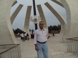 At MGR Memorial , Marina Beach , Chennai