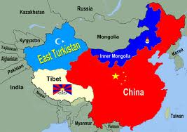 The Map of Red China with Annexed Tibet , East Turkestan & Inner Mongolia