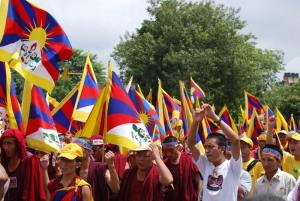Protesting Tibetans