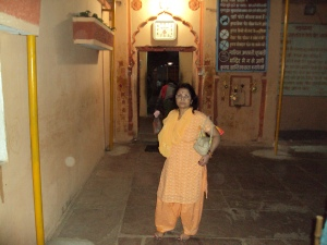My Wife Near the Temple Gate