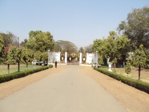 View of Jai Vilas Palace Gate