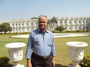 In The Courtyard of Jai Vilas Palace