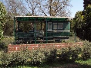 Royal Railway Coach Parked in the Courtyard