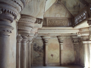 Ornate Interiors of Man Mandir