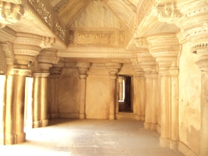 Ornate Interiors of Man Mandir - Southern Part