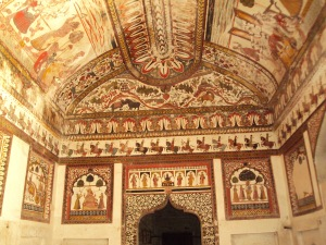 Ceiling & Walls of King's Room in Raja Mahal