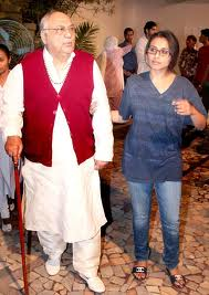 Rani Mukherjee With Her Father