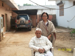 My Wife With Her Father In front of Dabra House