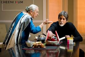 With Amitabh Bachchan in Cheeni Kum