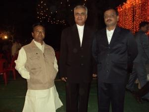 With Shri Rang Nath Tiwari My Wefe's Nephew Manoj