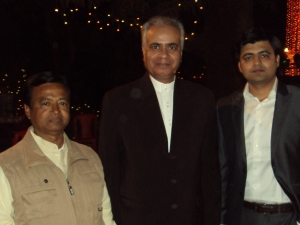 With Shri Rang Nath Tiwari & My Wife's Nephew Vivek