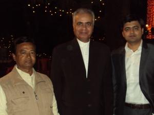 With Shri Rang Nath Tiwari & My Wife's Nephew Vivek