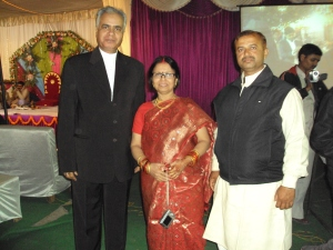 With My Wife & Her Brother Shri Ashok Tiwari