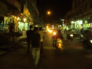 Main Street of Dabra During the Night