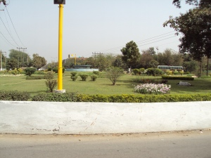 A Traffic Island of Chandigarh