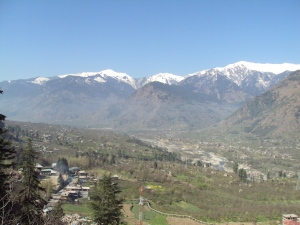 Snow - Capped Mountains As Seen From Naggar Castle
