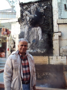 At Hot Water Spring at Manikaran
