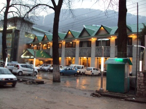 Exterior of Hotel Piccaddily - Manali at Night