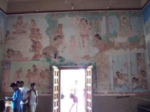 Inside Mulagandhakuti Vihara Buddhist Temple - Sarnath