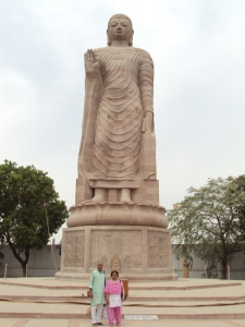 Me & My Wife at Thai Temple - Sarnath