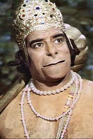 "As Hanuman in "" Ramayan "" Serial"