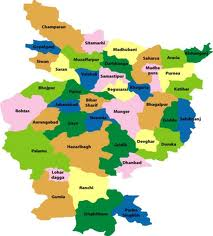 Map of United Bihar