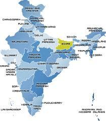 Location of Bihar in India