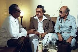 In Shaukeen with Ashok Kumar & Utpal Dutt