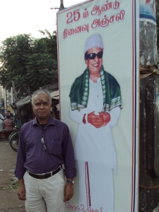 With Poster of MGR in a Small Town