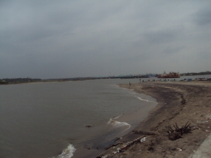 Sangam of Arasalar River & Sea