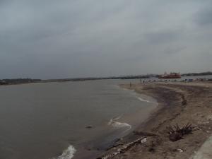 Sangam of Arasalar River & Sea