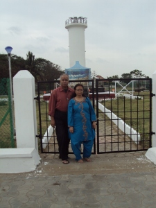 With My Wife At Tsunami Victim Memorial - Karaikal