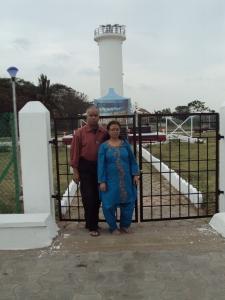 With My Wife At Tsunami Victim Memorial - Karaikal