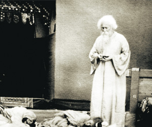 Rabindranath Tagore as an Actor in Natir Pooja