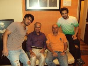 "Producer Atul Agnihotri & Lead Pair Pulkit Samrat & Bilal Amrohi during the Workshop of ""O Teri !"""