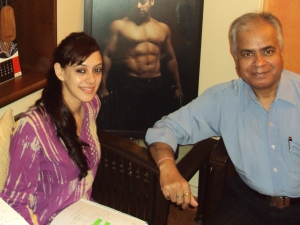"Hazel Keech in Atul Agnihotri's Office During Workshop of "" Bodyguard """