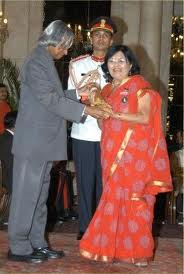 Awarded Padma Shri by President Kalam