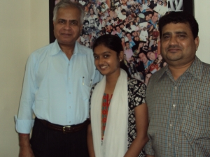 With Tanvi Rao & Her Father Shri Hari Prasad in My Office