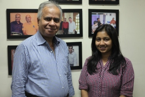 With Pawni Pandey in My Office