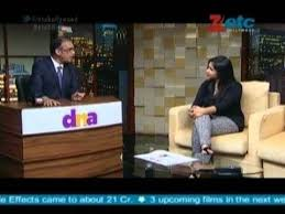 Komal Nahta Interviewing Pawni Pandey for His Show on Etc Channel