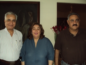 With Armaan Jain's Proud Parents at their Home