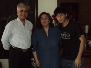 With Armaan Jain & His Mother Rima Jain