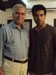 "With Ram Charan in his van - During Shooting of ""Zanjeer"""
