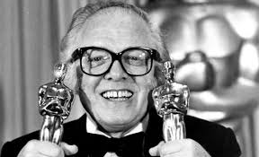 Richard Attenborough with Oscars