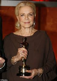 Lauren Bacall with Honourary Oscar