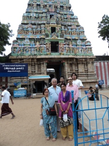 Picture taken in 2013 at SUKKIRAN [ SHUKRA ] Temple : My wife , son , sister & Brother in - Law